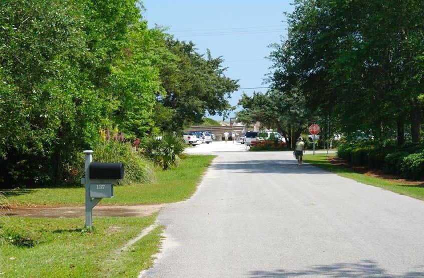 This is the view from our driveway to the beach access!