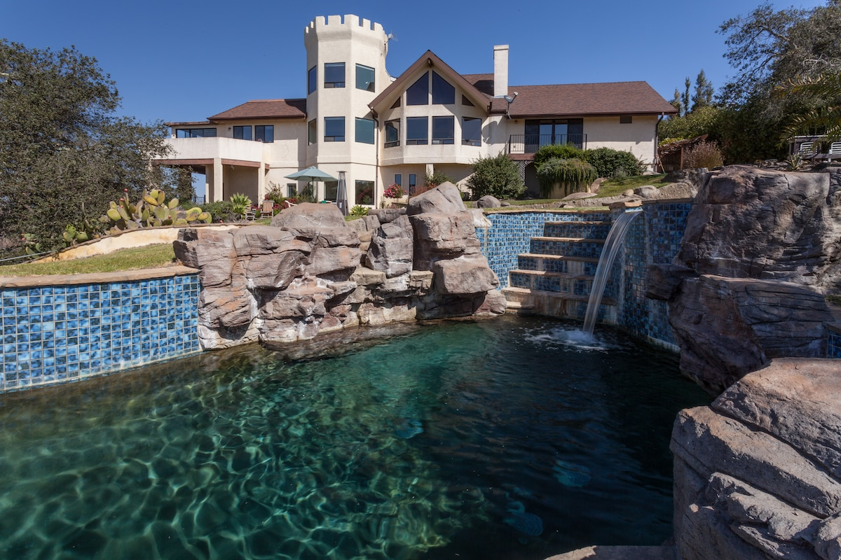 View of the home from the pool.