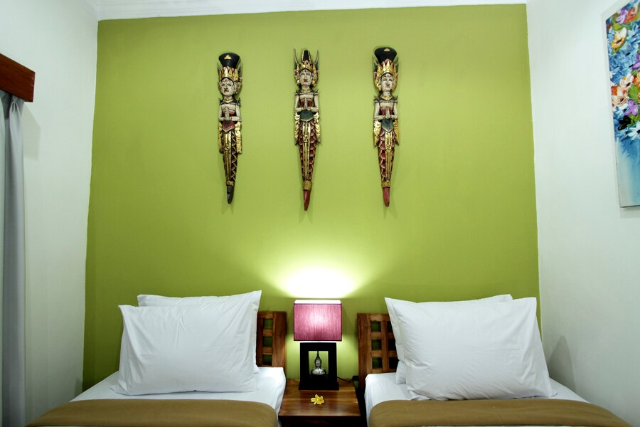 the bedroom head wall