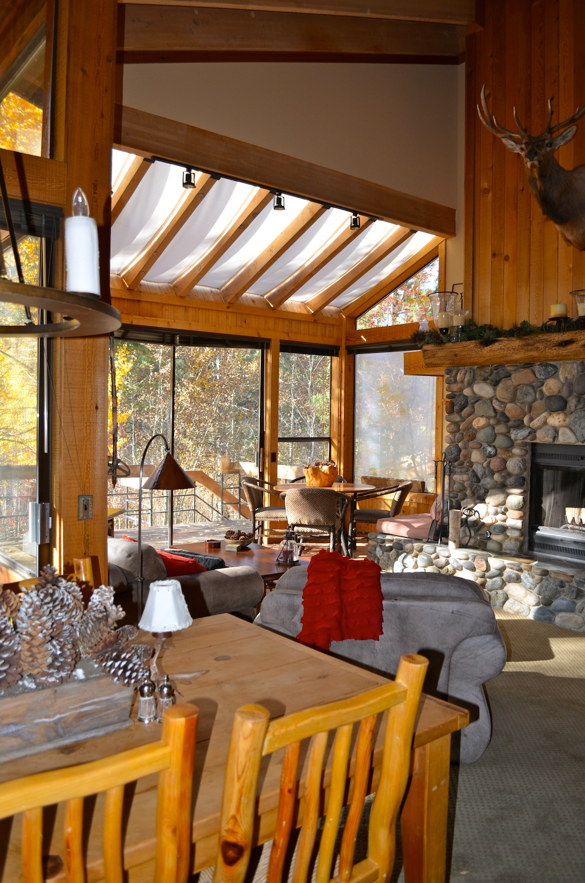 Open plan living/dining rooms