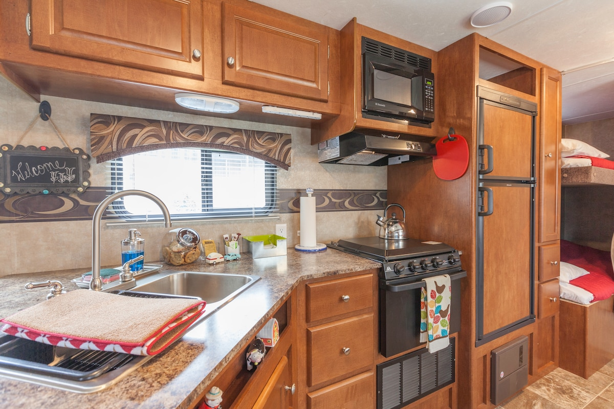 Kitchen and Bunk Beds