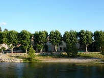 Charming riverside village house