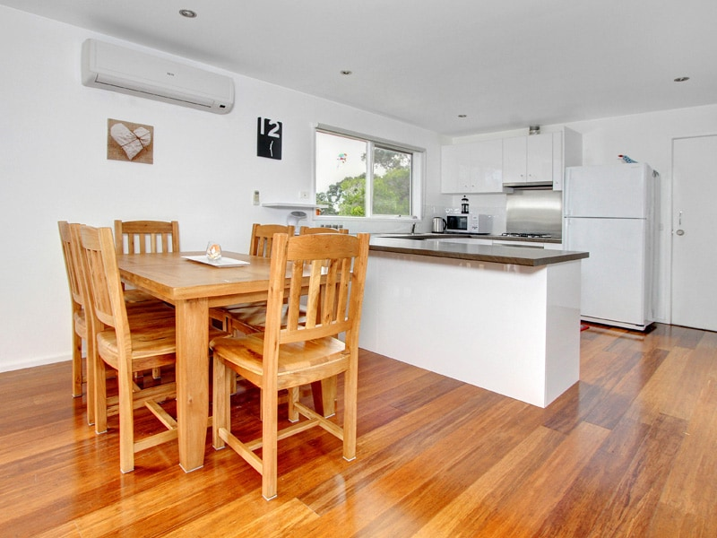 Newly renovated open kitchen and dining area