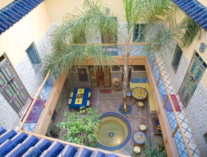 Riad Zara, autour du patio