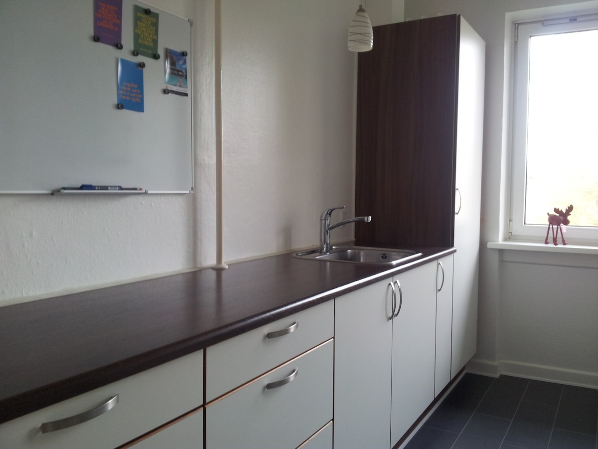 Kitchen with plenty of table space