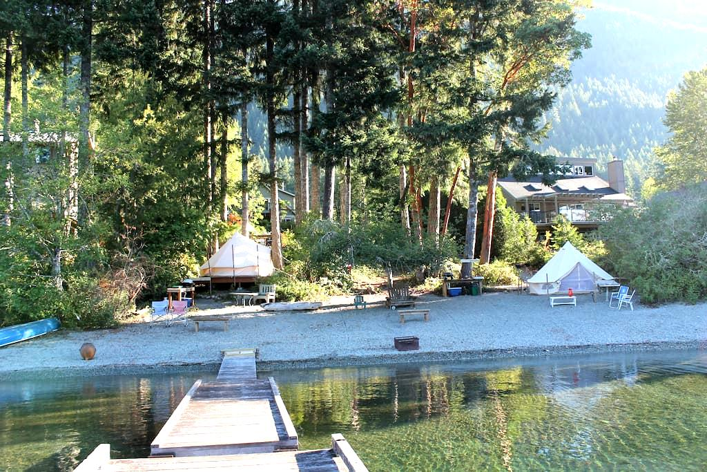 Smith Chalets Westbeach Bed and Breakfast - Youbou - Sátor