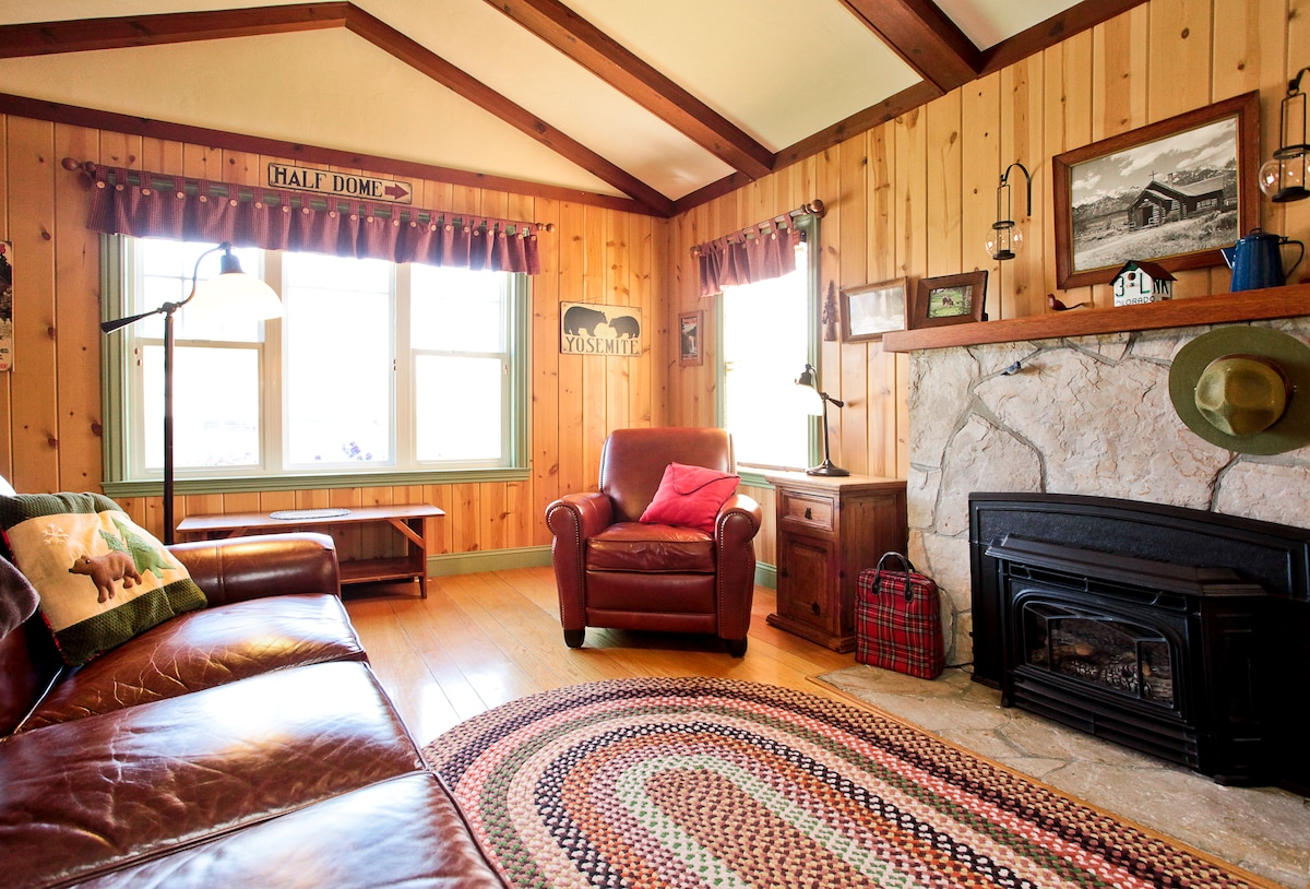 Living room...feels like a cabin in the woods!