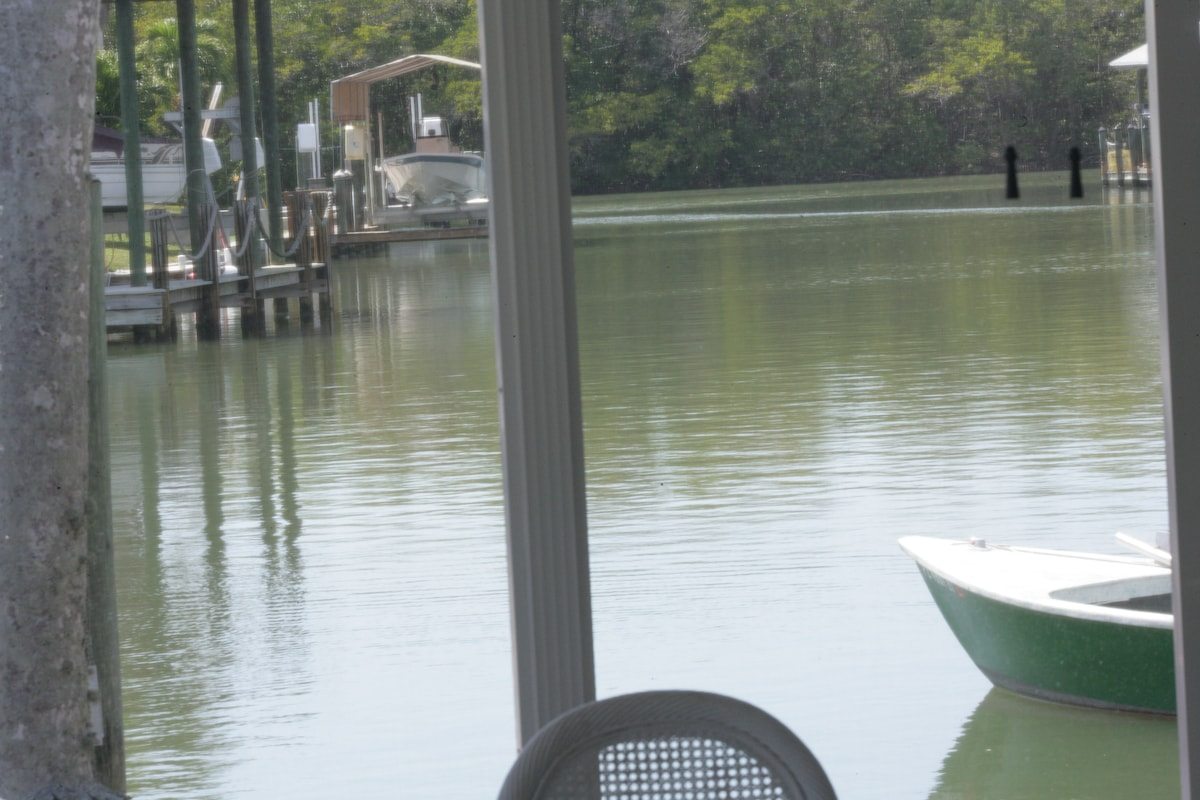 WATERFRONT HOME-Private Dock - Boat Lift Pine Island Offers Greatest Fishing-Boating-Grand Water Location!!!  Relaxing....
