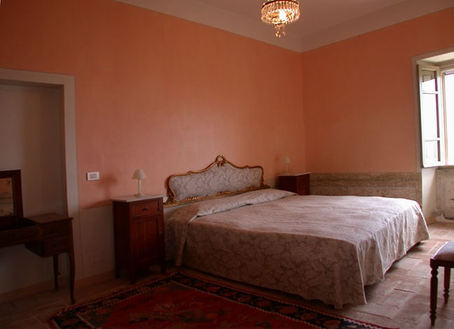 The Salmon Orange   bedroom