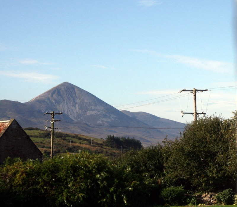 view of Croagh Patrick from the bedroom