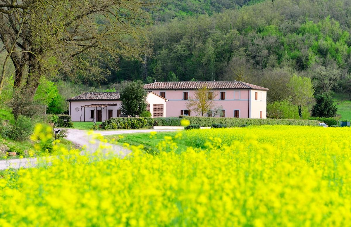 Agriturismo Il Corniolo in aperta campagna a 10 minuti da Perugia/ Country house 10 min far from Perugia center