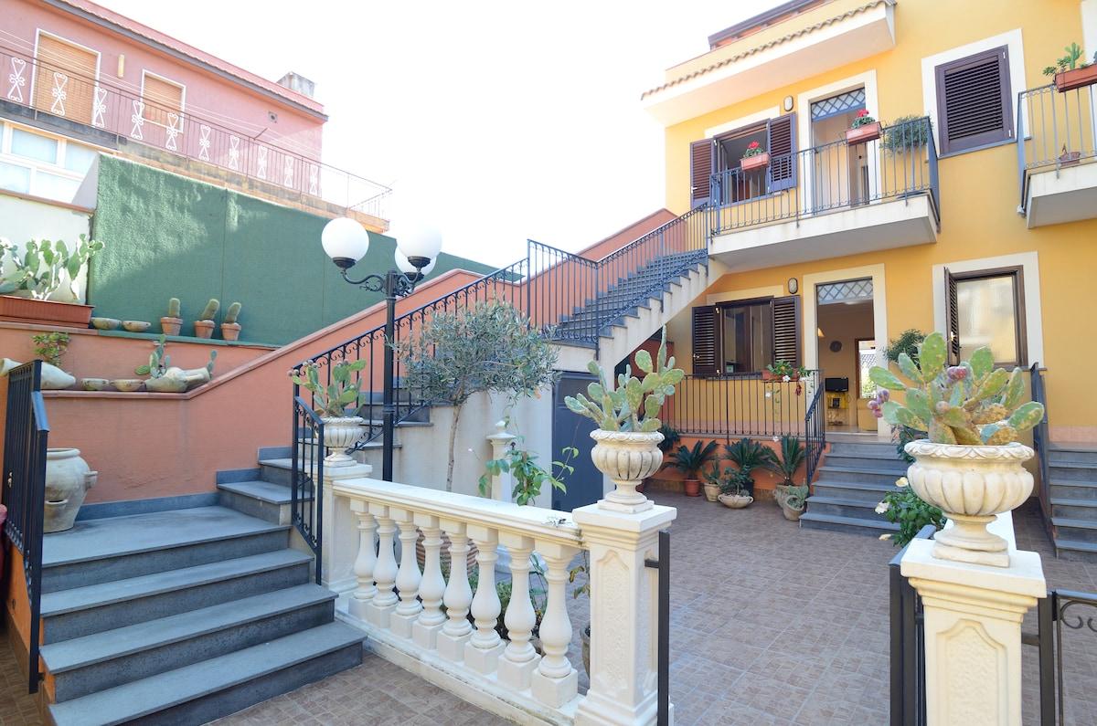 [ Taormina] big house with terrace