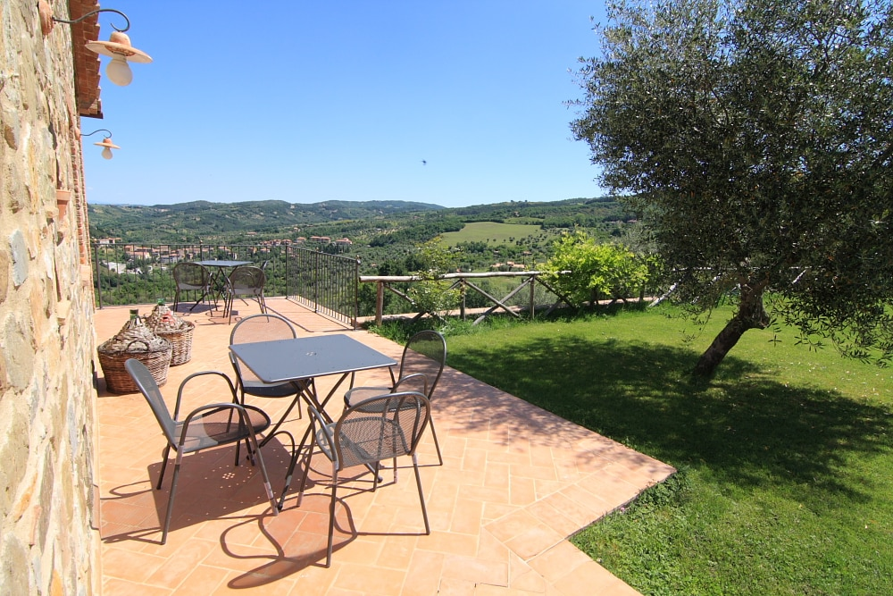 Panoramic view from the garden
