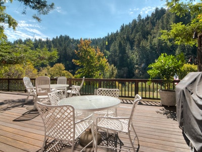 Enjoy the sunny deck space and gas BBQ grill!