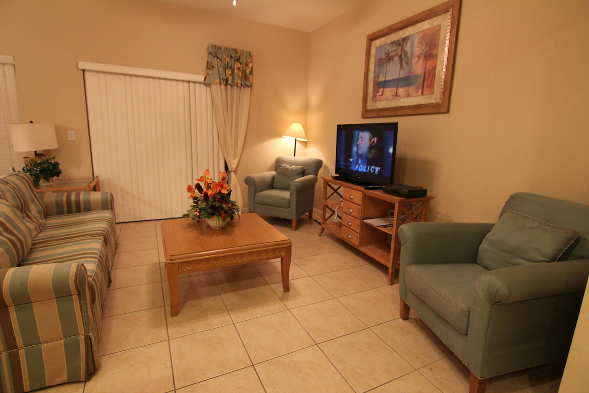 Living room with 42' LCD TV