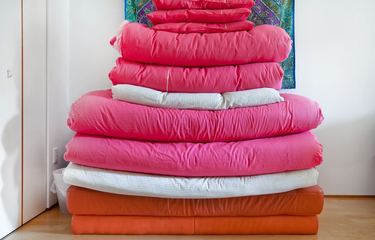 A huge pile of lovely soft futons, which will sleep up to 6 of your friends and family! They can be laid out in the pink room, and for larger groups the lounge is also available.
