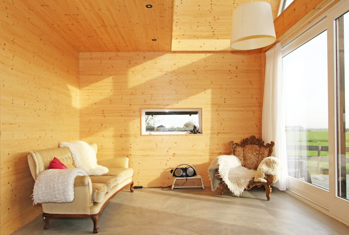 Wooden eco cottage near Amsterdam