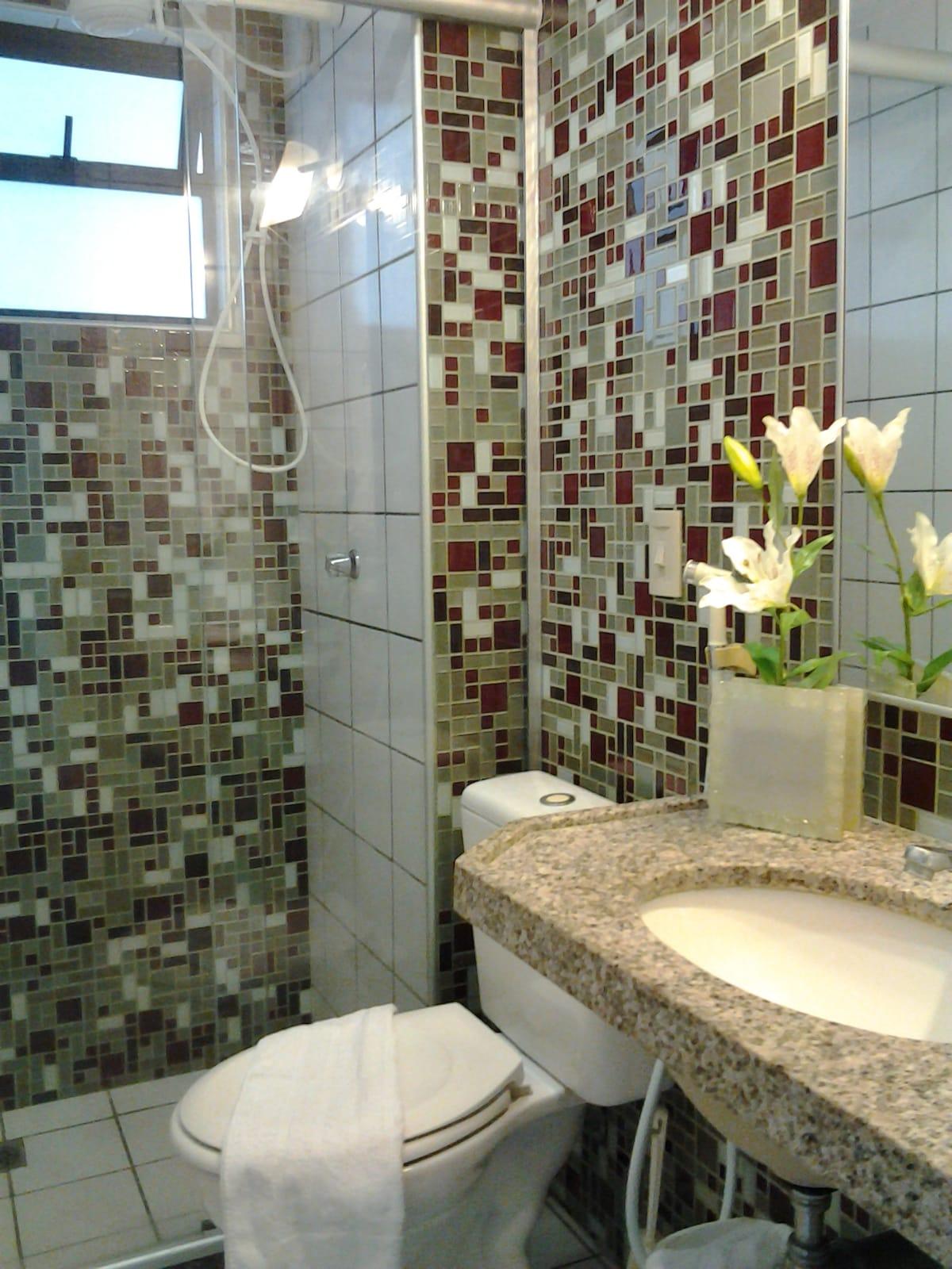 banheiros com banho quente