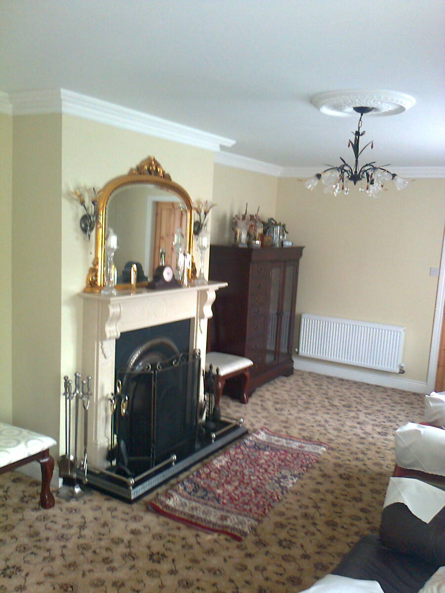 A lovely hearth in the sitting room