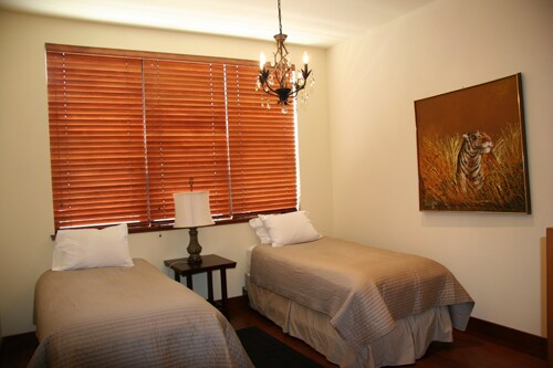 Bedroom two is all custom decorated, two twins or a very comfortable california king.