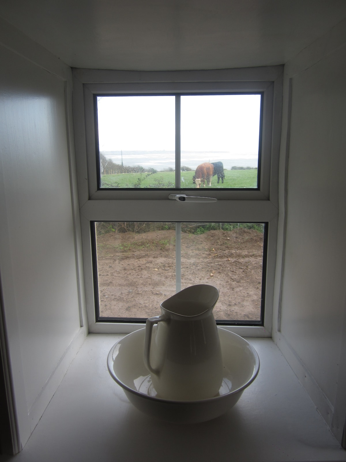 View of farm, Bannow Bay and the Saltee Islands from kitchen/dining room