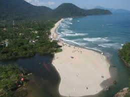 Itamambuca Beach looking north. The beach is 2km long, great for beach walks and runs