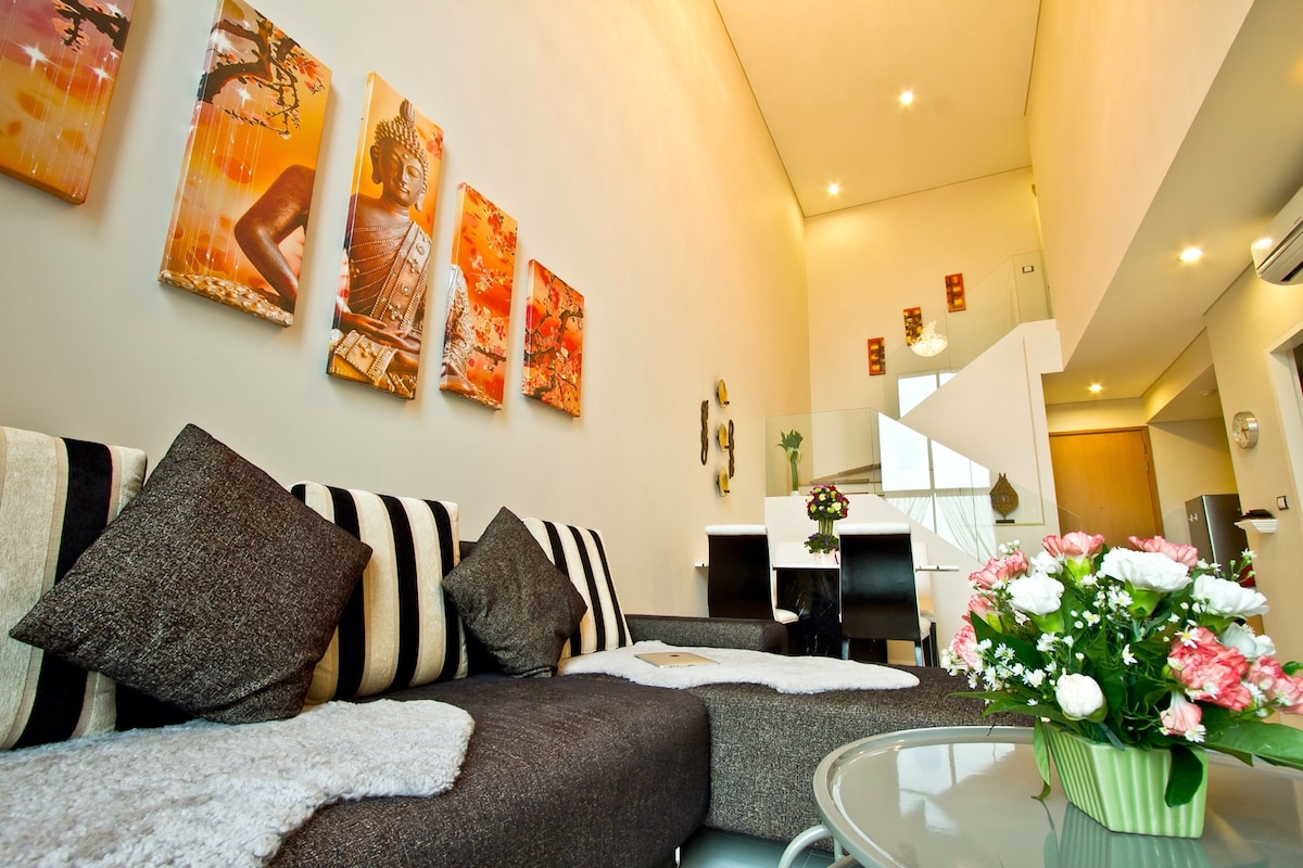 modern and spacious accommodation on two floors
