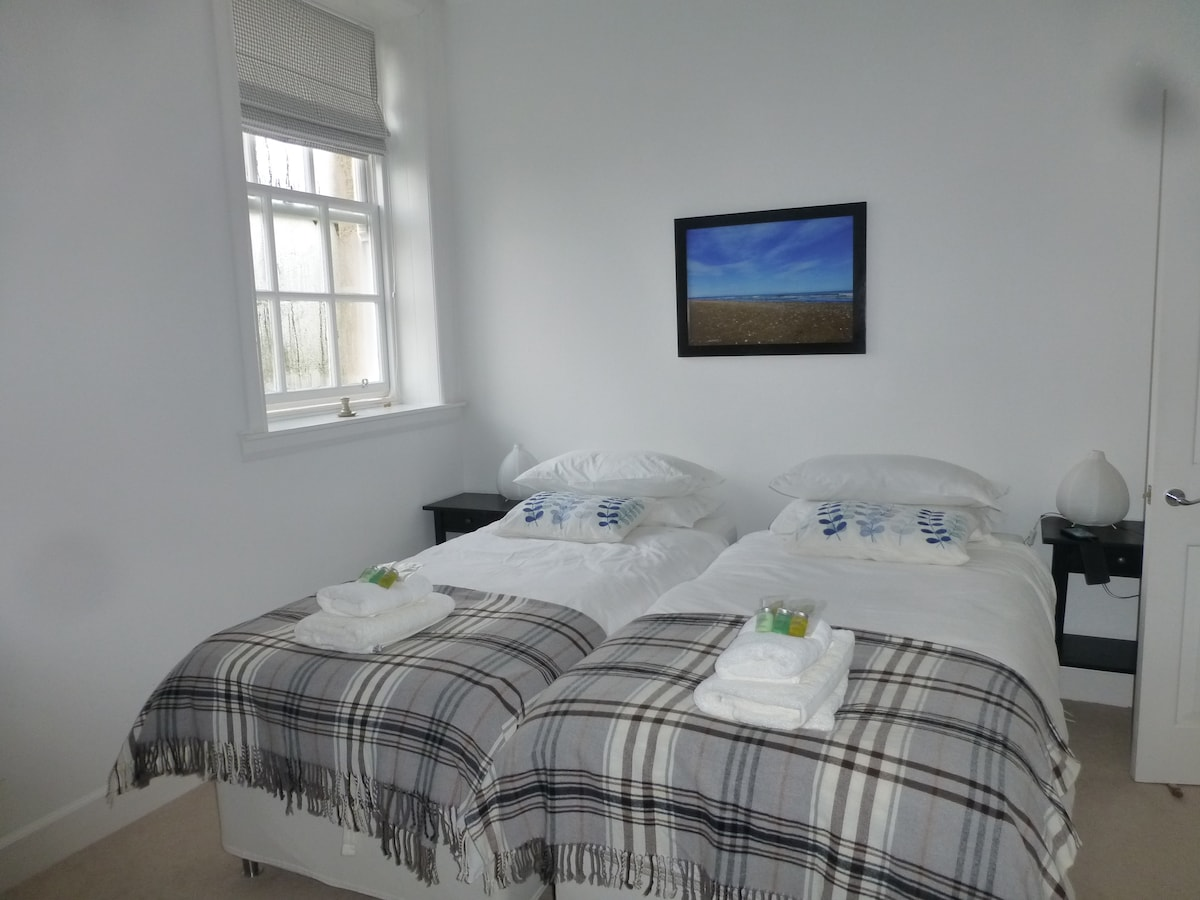 Bedroom Two (The single beds can be made up as a super king size on request)