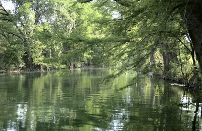 The Blanco River.  Perfect for swimming, fishing and kayaking.