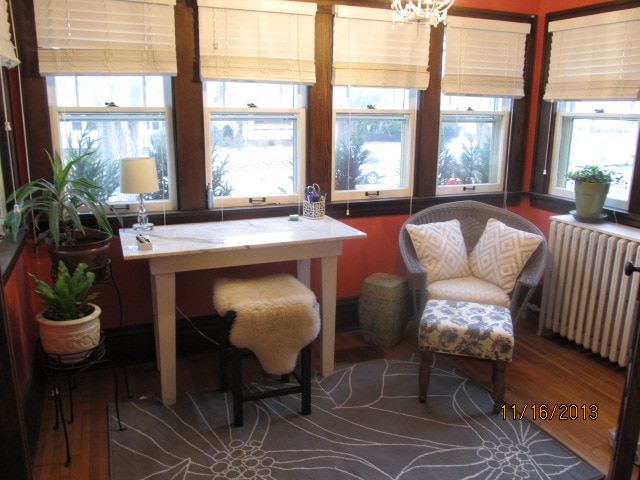 Sunroom is the perfect place to read a book or catch up on some work.