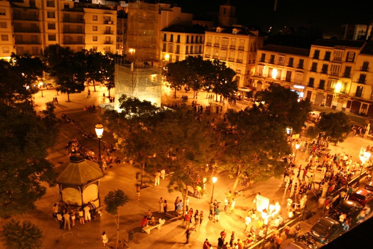 Plaza de la Merced 2 minutes walk