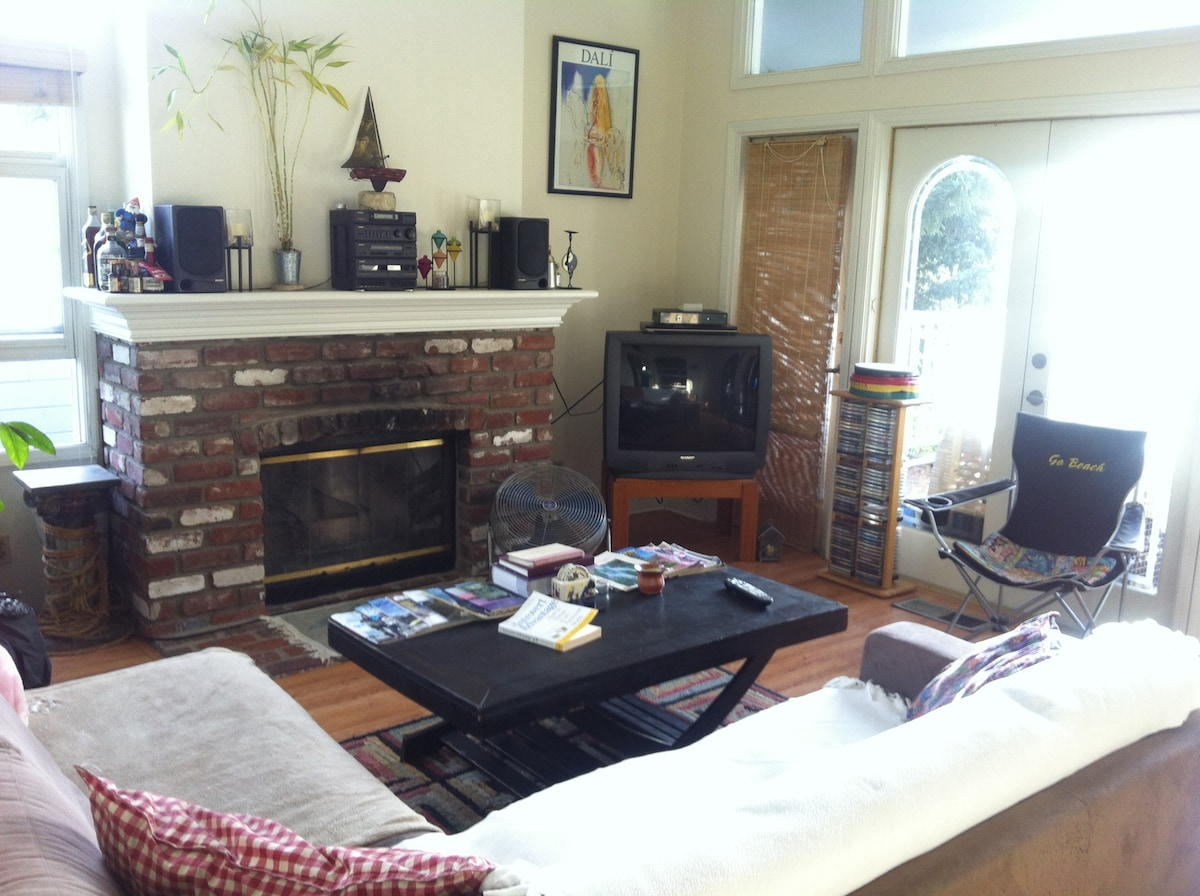 Relax on the Comfy Couch and enjoy some cable TV or a DVD!