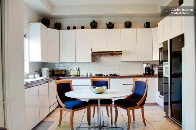 Large, family-style kitchen