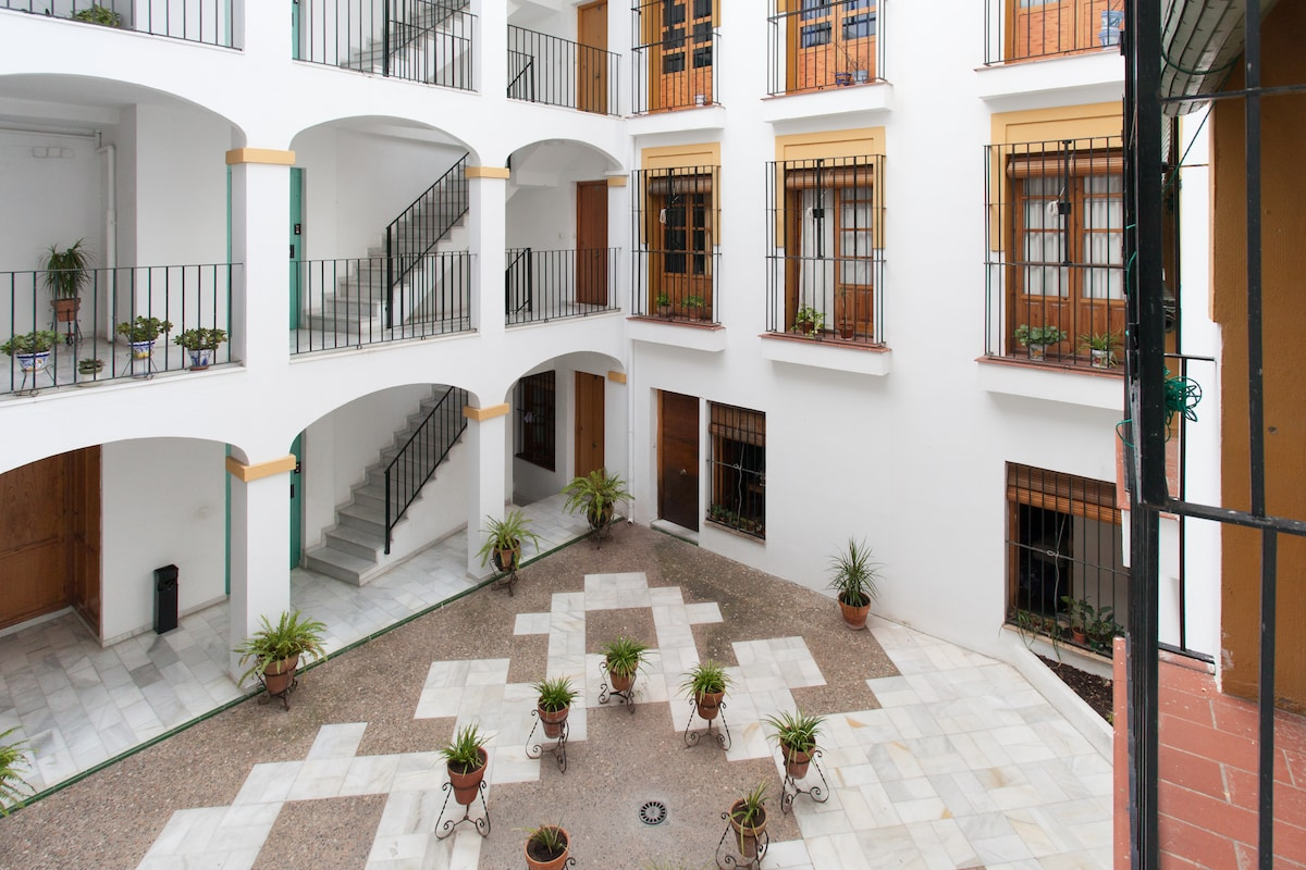 Central patio in the building