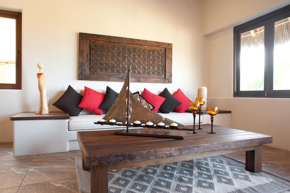 Rustic, antique interior design and decor