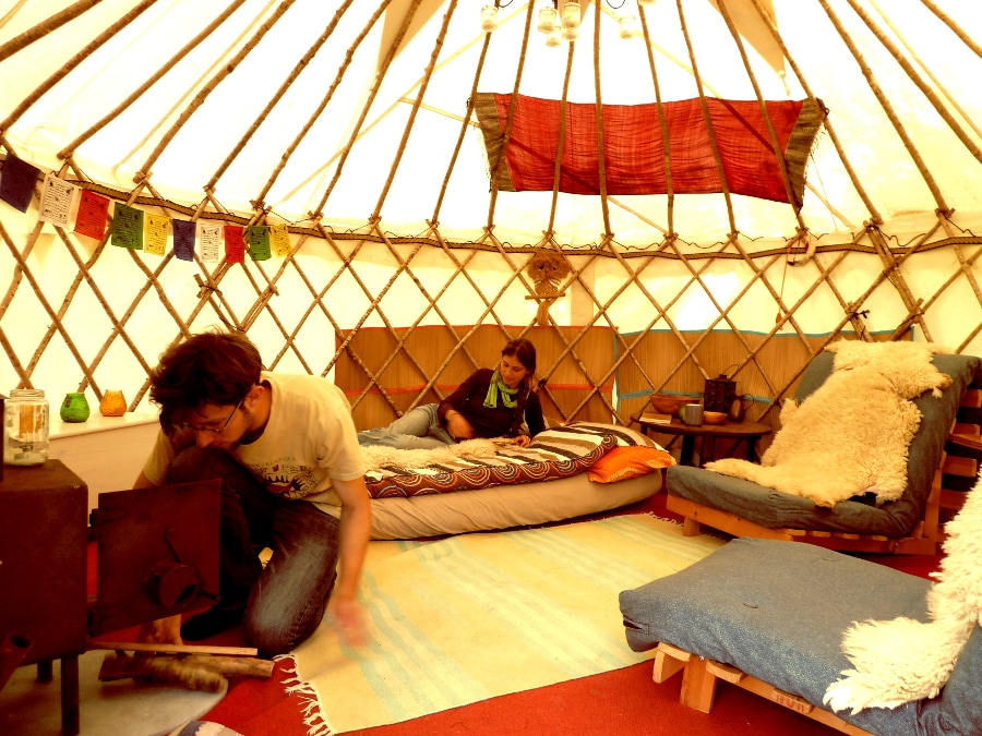 Lovely Yurt ... the best of camping