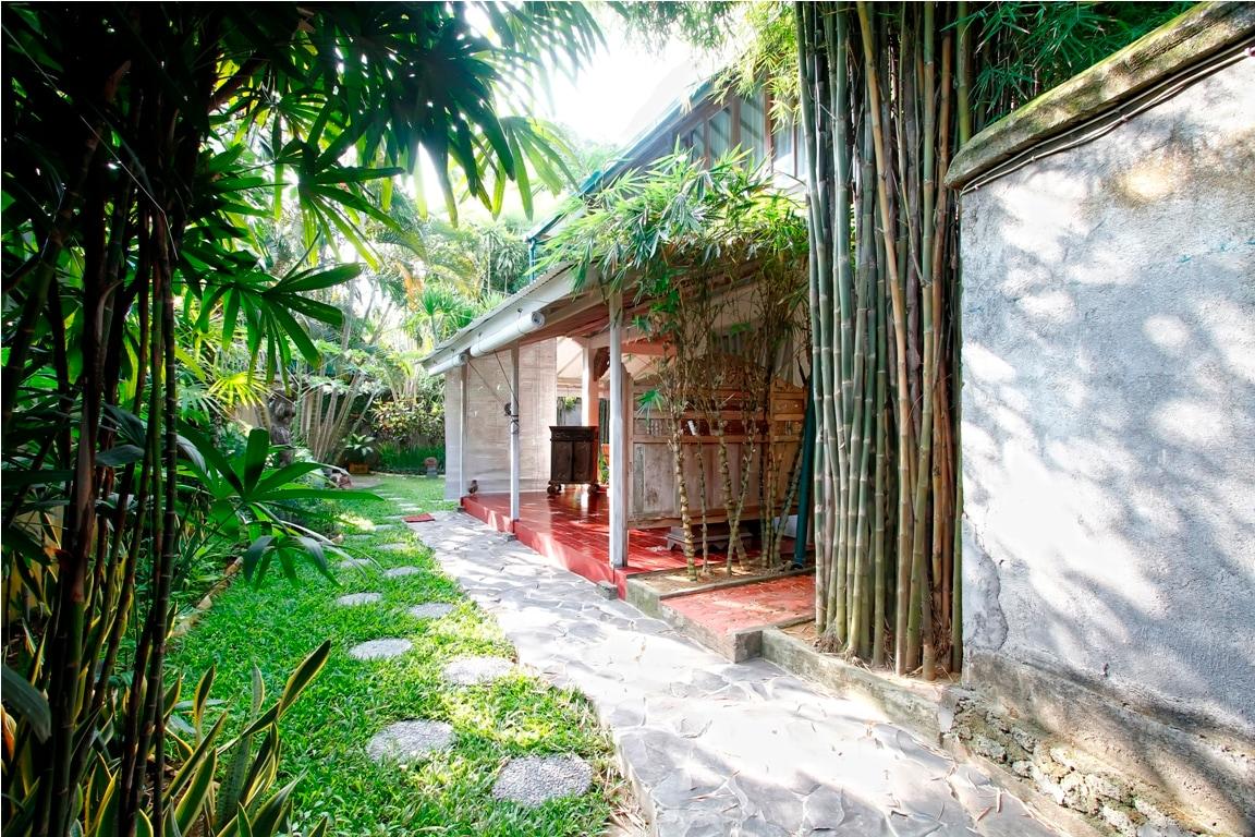 A very cozy villa with lush tropical garden