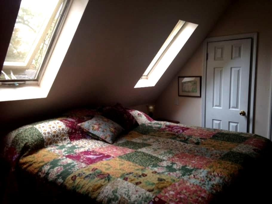 King size bed, lots of sunlight! - Signal Mountain