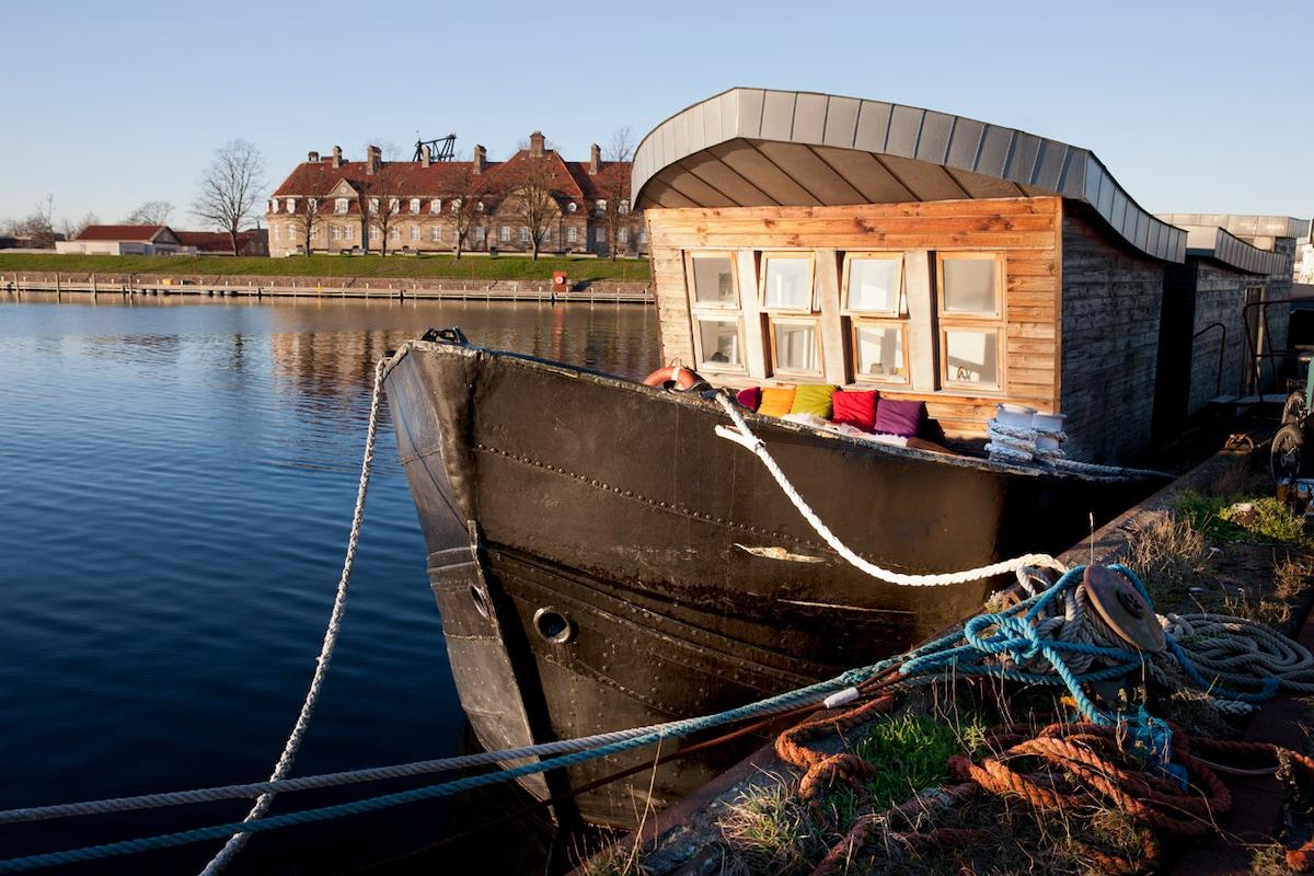 Houseboat in Copenhagen.