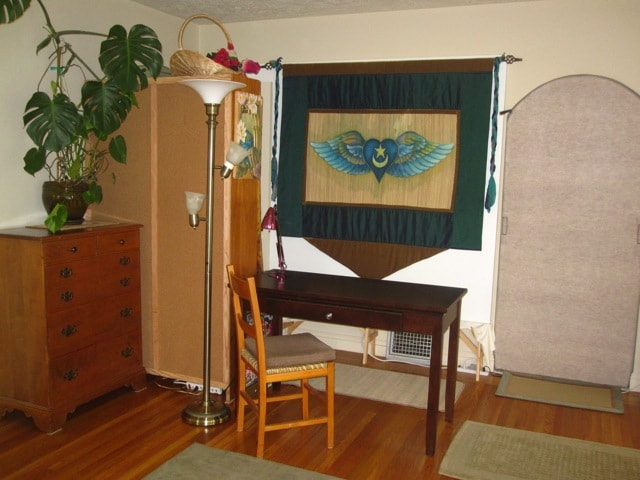 Dresser & Desk, and Arched Door to Dining room