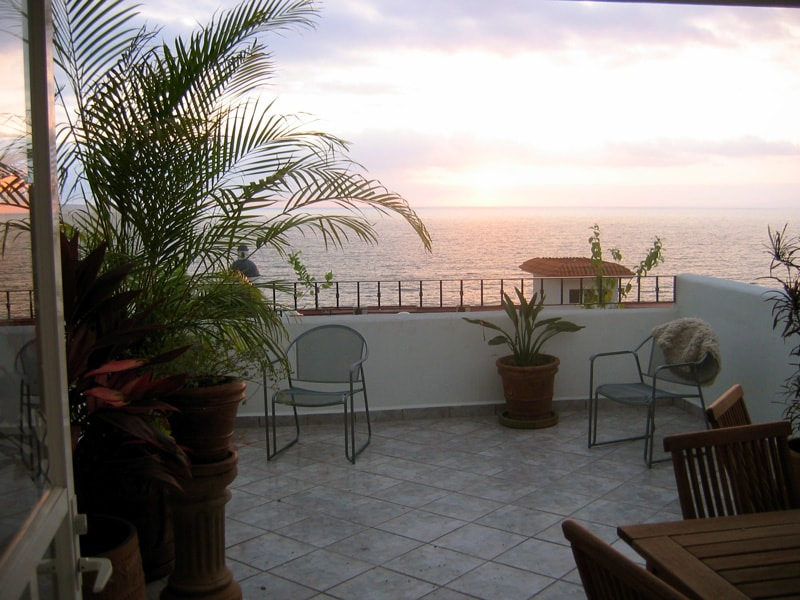 View of the same sunset from the patio.