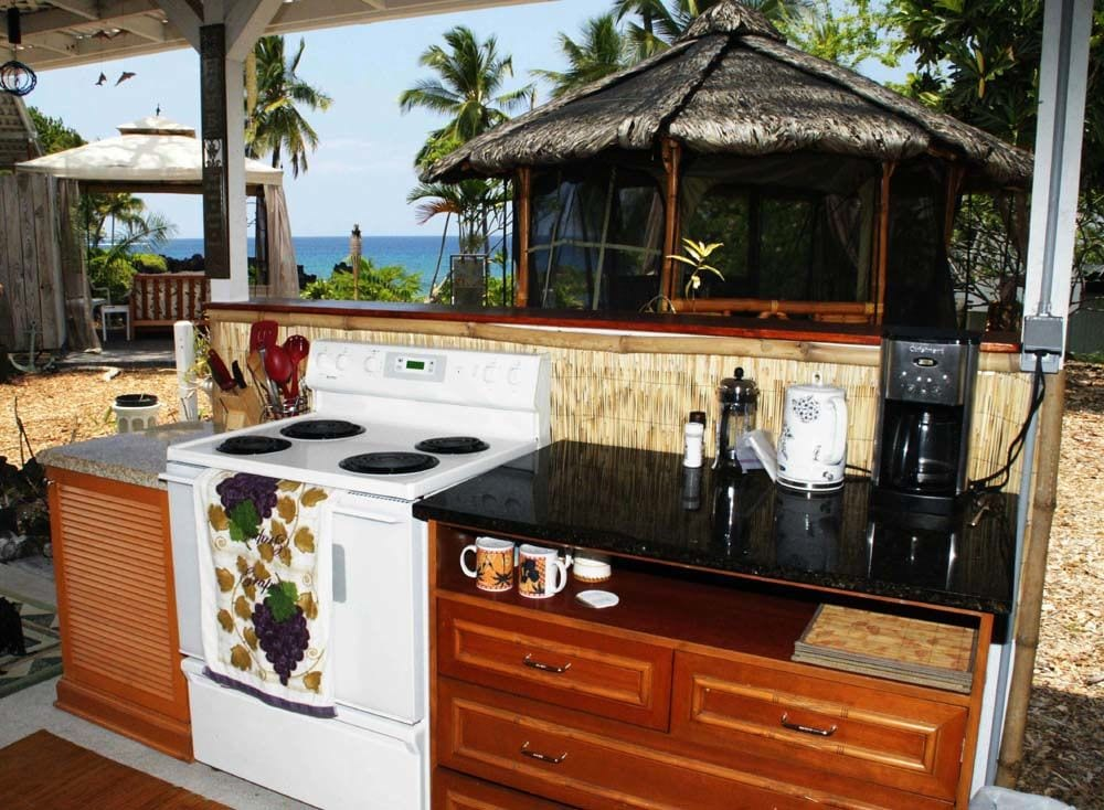 Outside Kitchen with Ocean View