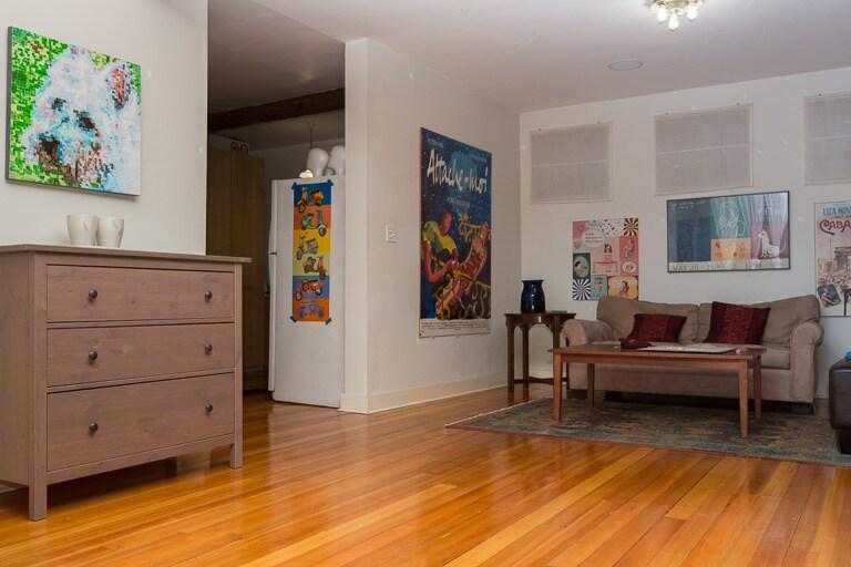 Beautiful heated fir floors, so comfy on the feet.