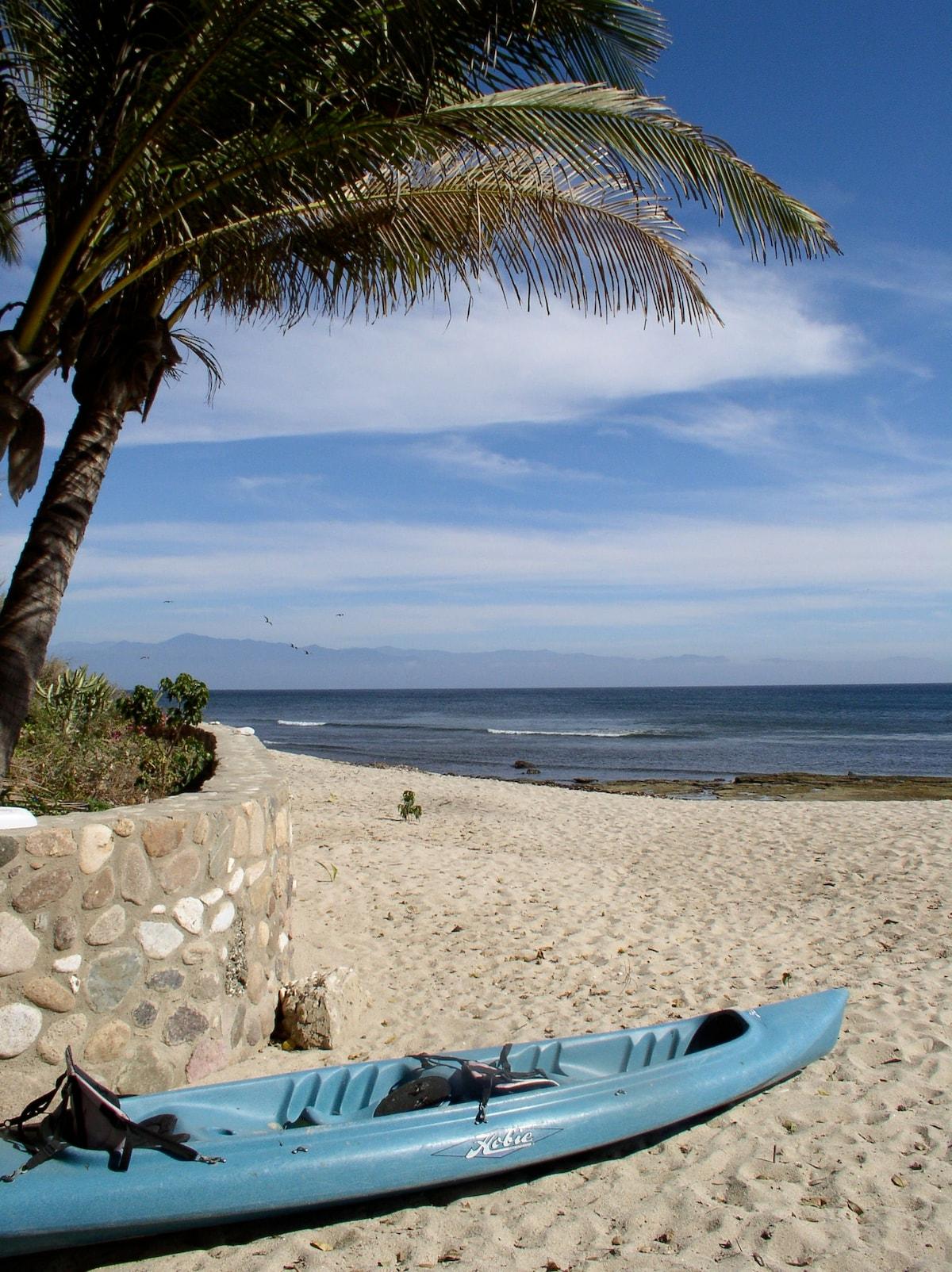 Beach Patio and Kayak