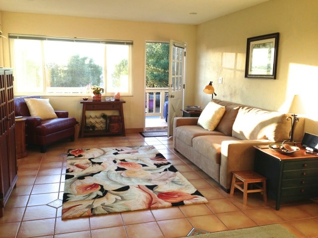 You will have full access to comfortable and cheery living room.