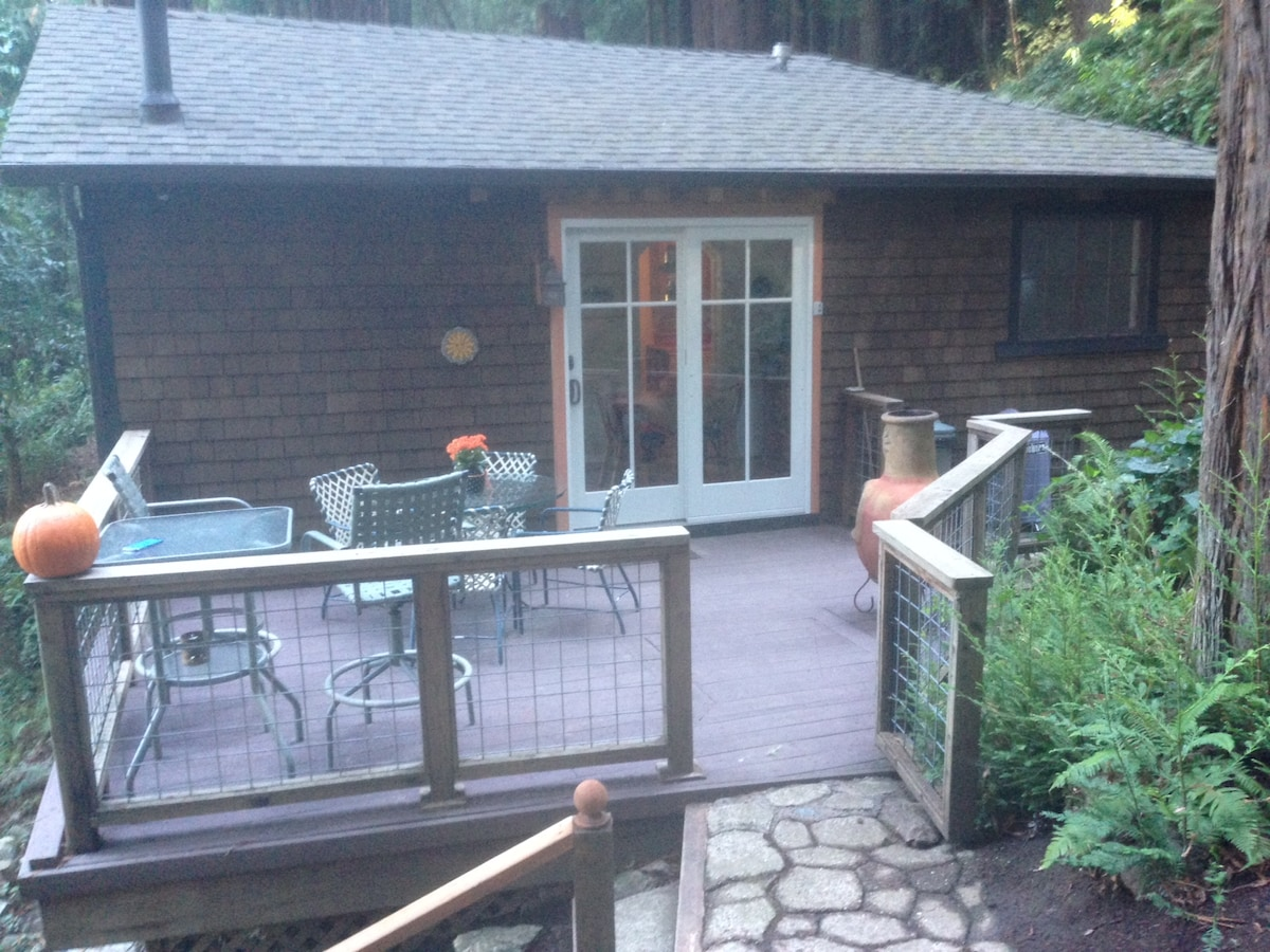 Large deck with barbecue and space to relax.