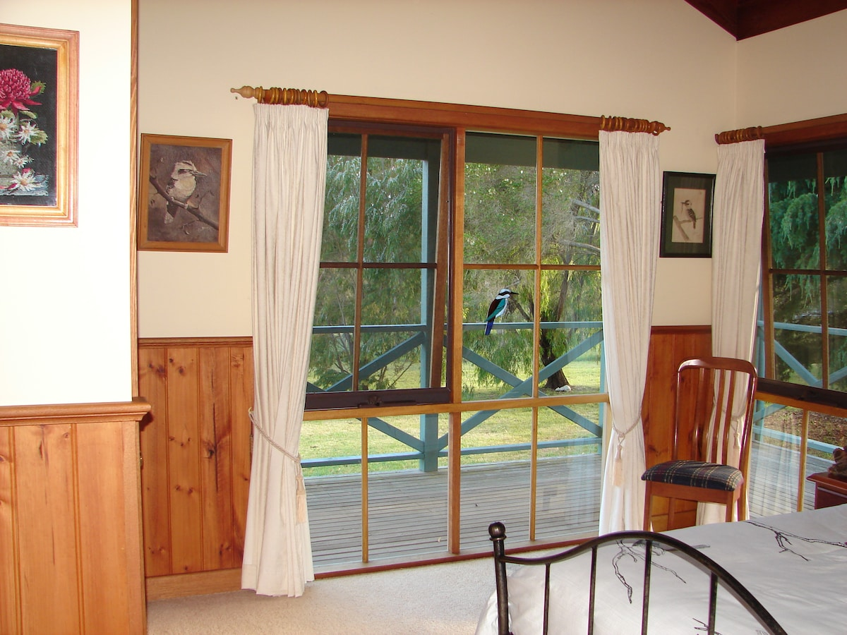 The Kookaburra Room, garden views