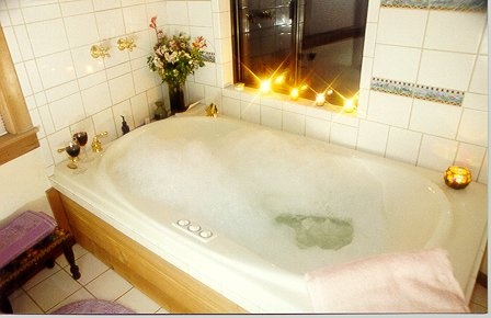 Jacuzzi for 2 in the cottage