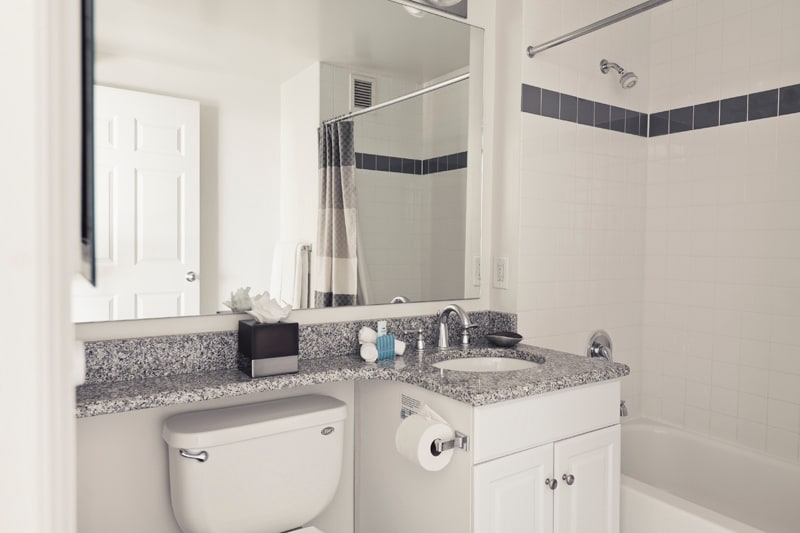 Master Bathroom with a Starter Kit of Toiletries