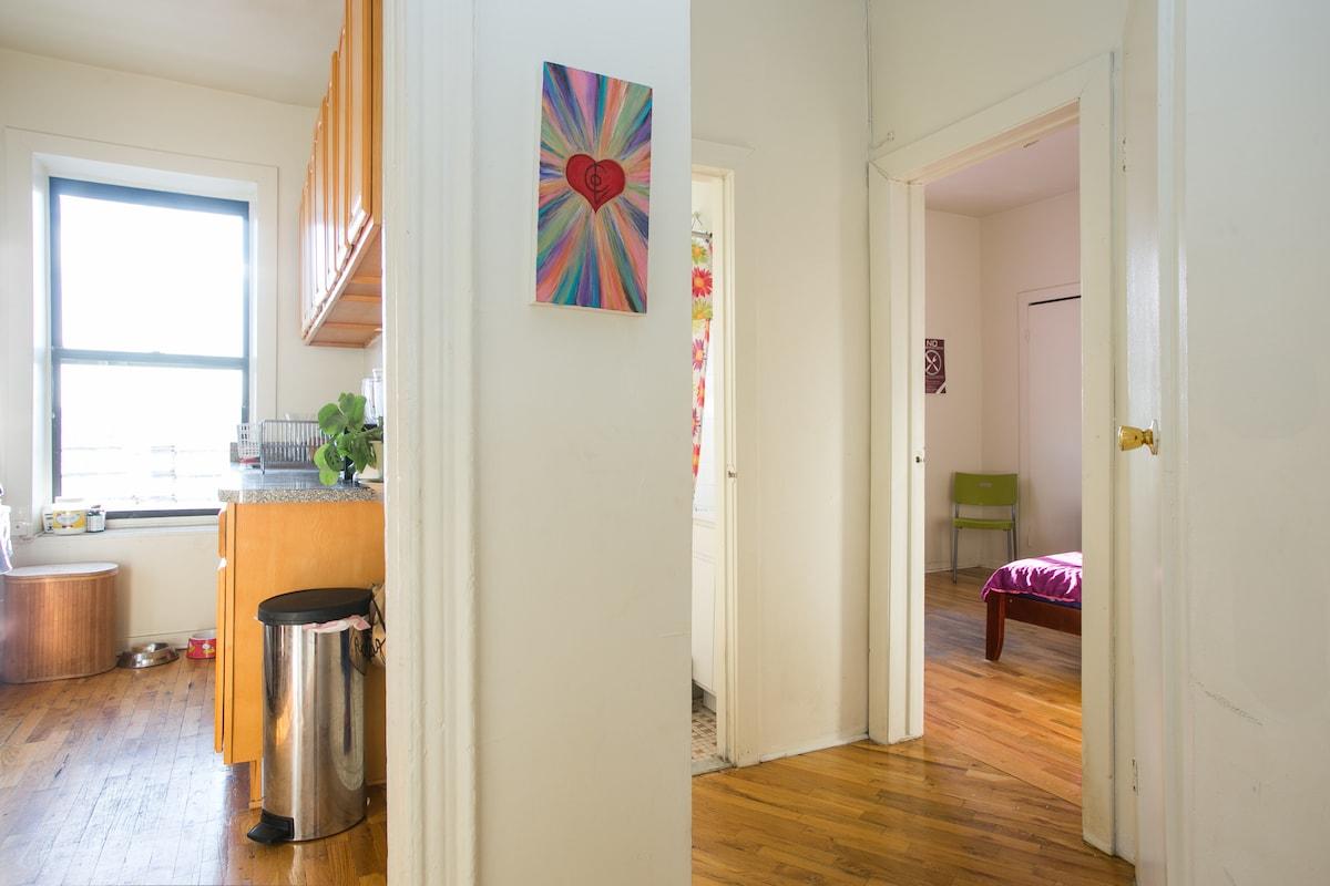 Bright, clean cheery apartment.